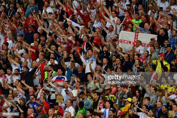 cbec2563d8c England s supporters cheer their team during the Russia 2018 World Cup  round of 16 football match