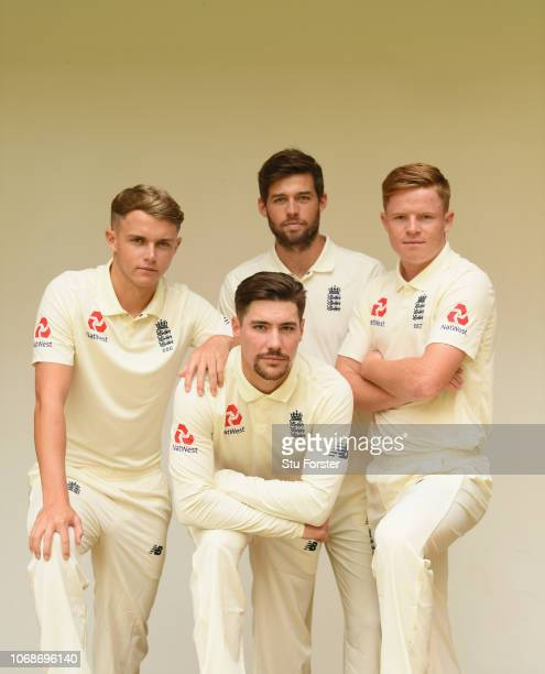 England's Surrey players Sam Curran Ben Foakes Rory Burns and Ollie Pope pictured at the Fortress hotel ahead of the First Test Match on November 5...