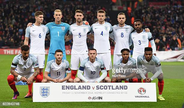 England's Team during FIFA World Cup Qualifying European Region Group F match between England and Scotland at Wembley stadium 11 Nov 2016