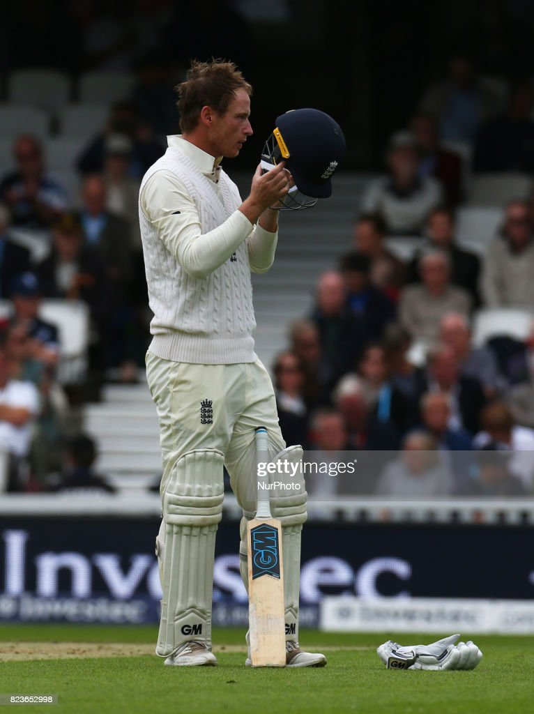 England's Tom Westley during the International Test Match Series Day One match between England and South Africa at The Kia Oval Ground in London on July 27, 2017