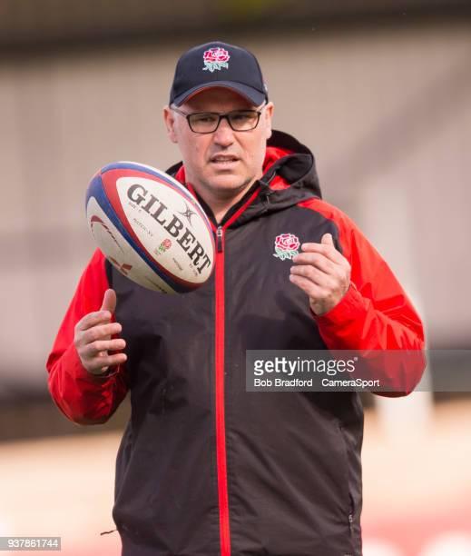 England's U18 Head Coach John Fletcher during the Rugby U18 International Friendly match between Wales U18 and England U18 at Sardis Road on March 24...