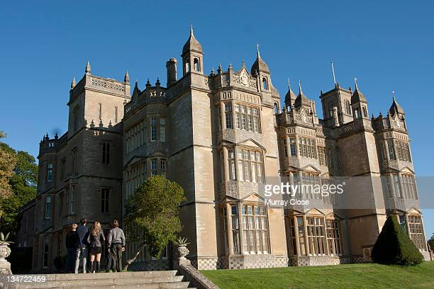 Englefield House near Reading in Berkshire doubles as the XMansion in a scene from the film 'XMen First Class' 2011 Gathered in front are actors...