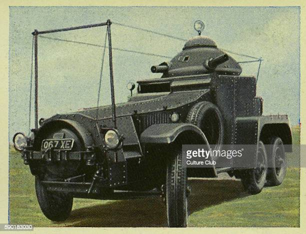 English 6 wheel street tank with radio system 5 man crew Weapons 2 Vickers machine gun MG with capability for 6000 rounds each time Speed up to six0...
