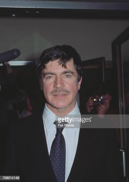 English actor Alan Bates at the premiere of the film 'The Wicked Lady' in Leicester Square London 21st April 1983