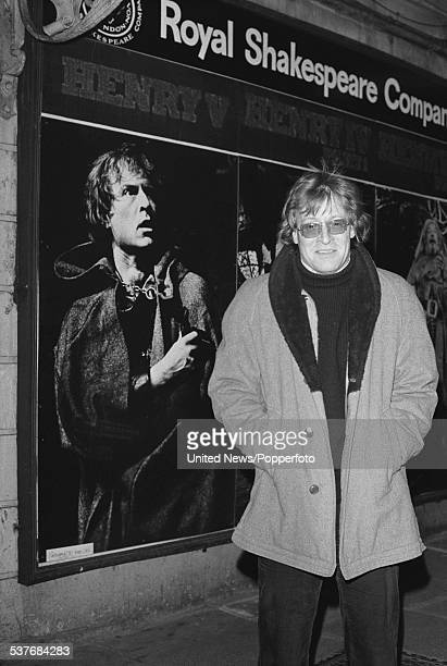 English actor Alan Howard pictured standing in front of the Old Vic Theatre in London on 18th March 1976