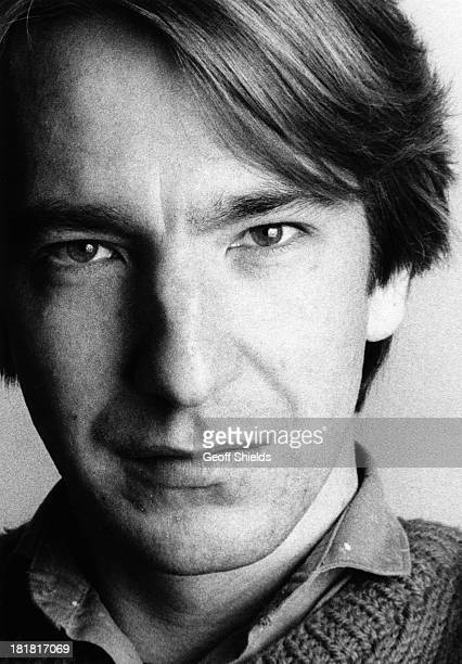 English actor Alan Rickman London 1984