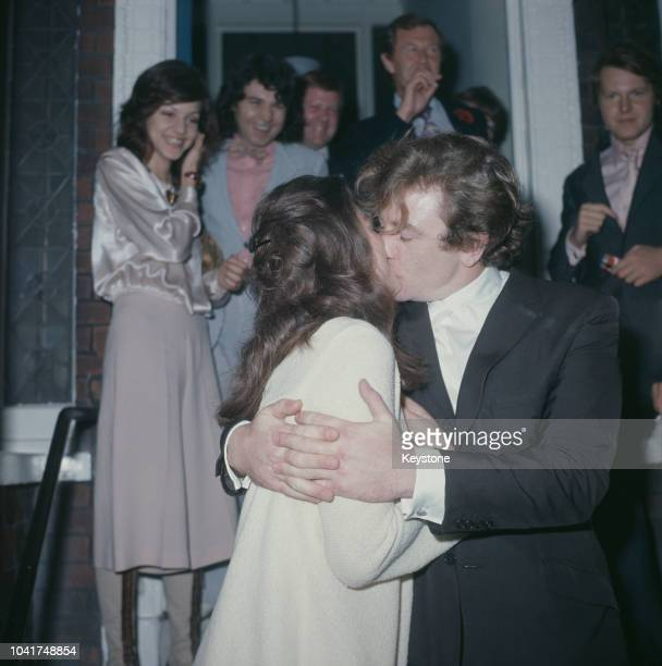 English actor Albert Finney and actress Anouk Aimée during their wedding in London, UK, 7th August 1970.