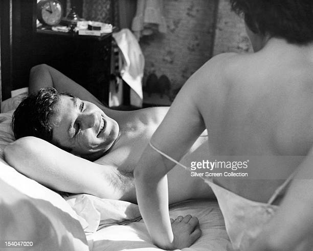 English actor Albert Finney as Arthur Seaton and Welsh actress Rachel Roberts as Brenda in 'Saturday Night And Sunday Morning' directed by Karel...