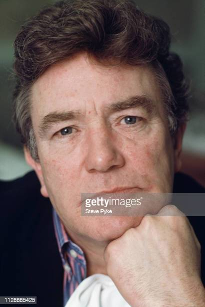 English actor Albert Finney at L'Escargot restaurant on Greek Street Soho London 8th March 1990