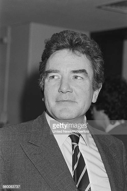 English actor Albert Finney pictured at a press launch of the production company United British Artists in London on 19th December 1983