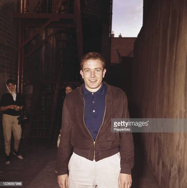 English actor Albert Finney pictured outside the stage door of a theatre in 1961 Albert Finney is currently playing the role of Martin Luther in the...