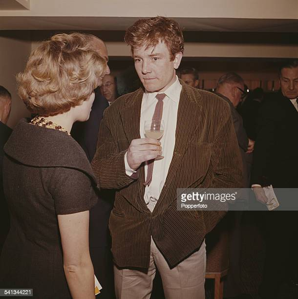 English actor Albert Finney who plays the character of Arthur Seaton in the film 'Saturday Night and Sunday Morning' pictured wearing a brown cord...