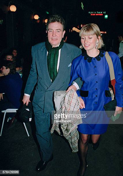 English actor Albert Finney with Susan Mason in the West End of London 4th May 2009