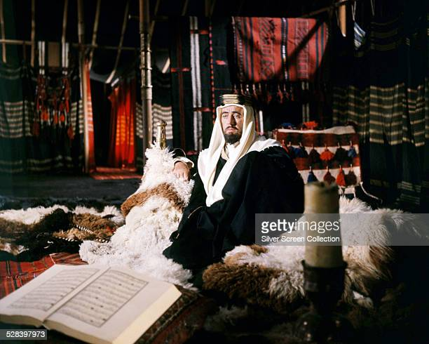 English actor Alec Guinness as Prince Faisal in 'Lawrence Of Arabia' directed by David Lean 1962