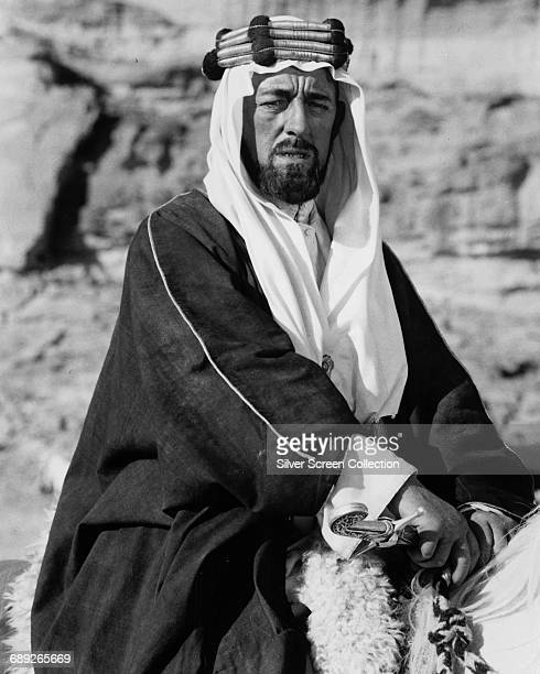 English actor Alec Guinness as Prince Feisal in the film 'Lawrence of Arabia' 1962