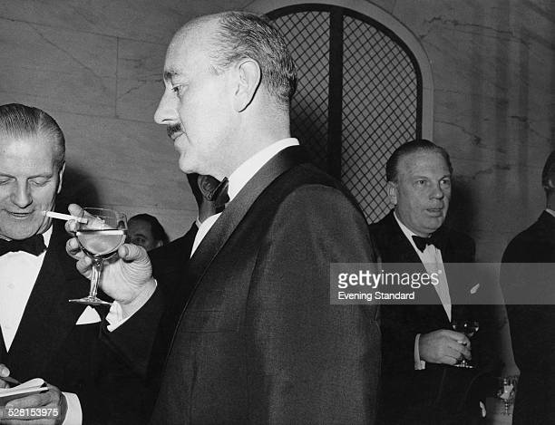 English actor Alec Guinness at the Evening Standard theatre awards London 26th January 1960