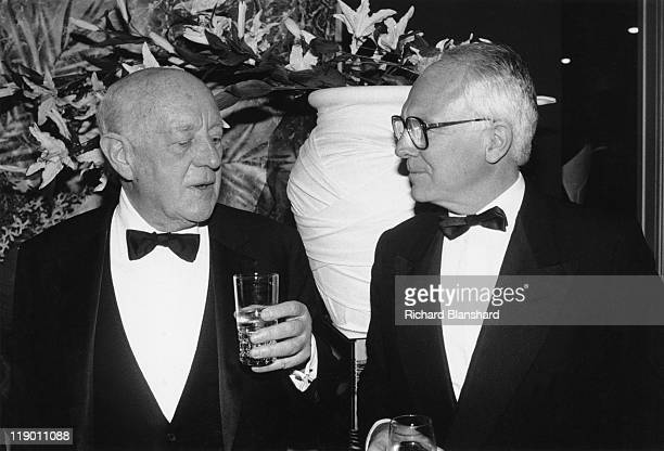 English actor Alec Guinness attends a Tribute Gala in his honour at the Lincoln Center in New York City 27th April 1987