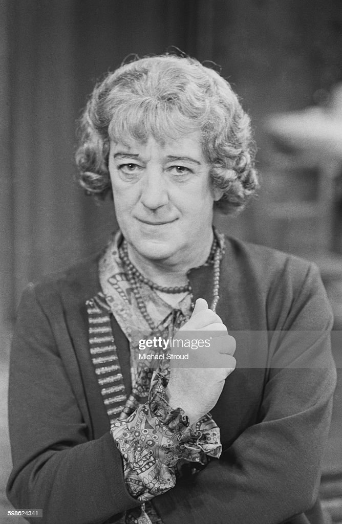English actor Alec Guinness (1914 - 2000) dressed as Jock Master/Mrs Artminster in the play 'Wise Child' by Simon Gray, UK, 11th October 1967.