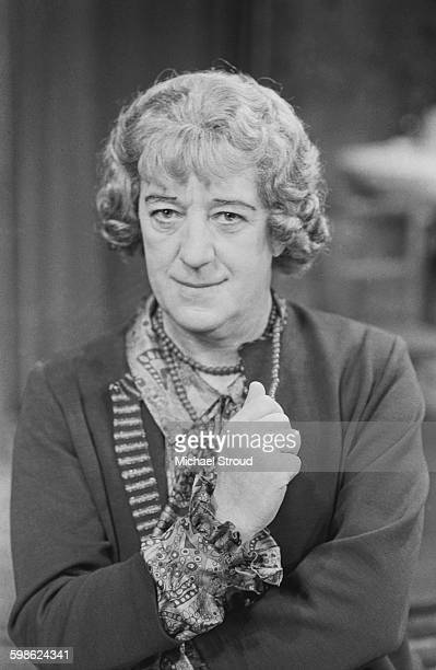English actor Alec Guinness dressed as Jock Master/Mrs Artminster in the play 'Wise Child' by Simon Gray UK 11th October 1967