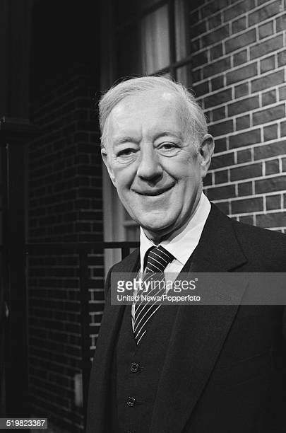 English actor Alec Guinness posed on the set of The Morecambe and Wise Christmas Show in London on 25th November 1980