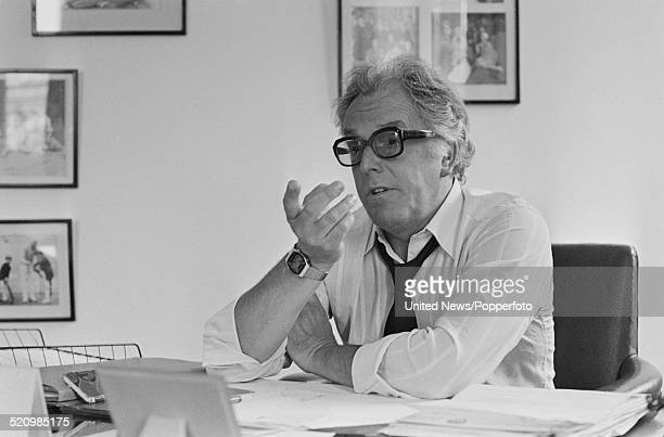 English actor and campaigner Brian Rix pictured in the office of the National Society for Mentally Handicapped Children and Adults in London on 1st...
