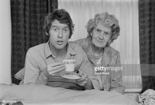English actor and comedian Michael Crawford, who stars as the character Frank Spencer in the television sitcom 'Some Mothers Do 'Ave 'Em', pictured...