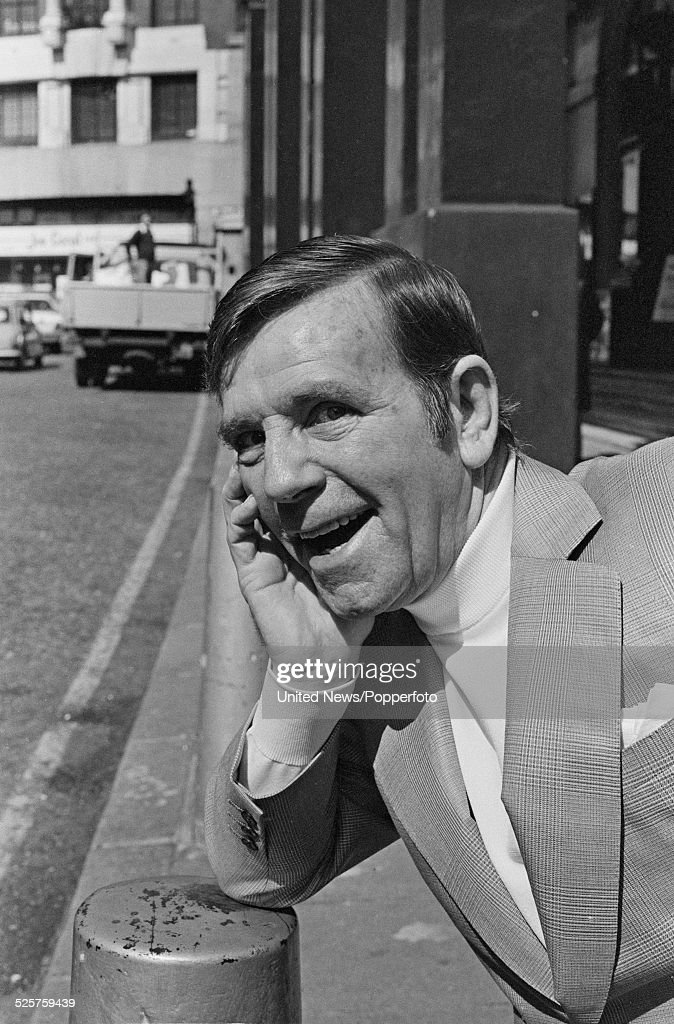 English actor and comedian, Norman Wisdom (1915-2010) pictured outside the Theatre Royal in Drury Lane, London on 18th April 1979.