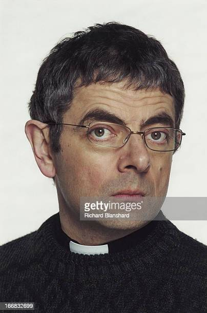 English actor and comedian Rowan Atkinson stars as a hapless pastor in the film 'Keeping Mum', 2005.