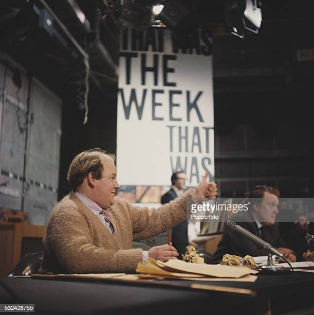 English actor and comedian Roy Kinnear pictured on the set of the BBC satirical television series 'That Was the Week That Was' in London in 1963...
