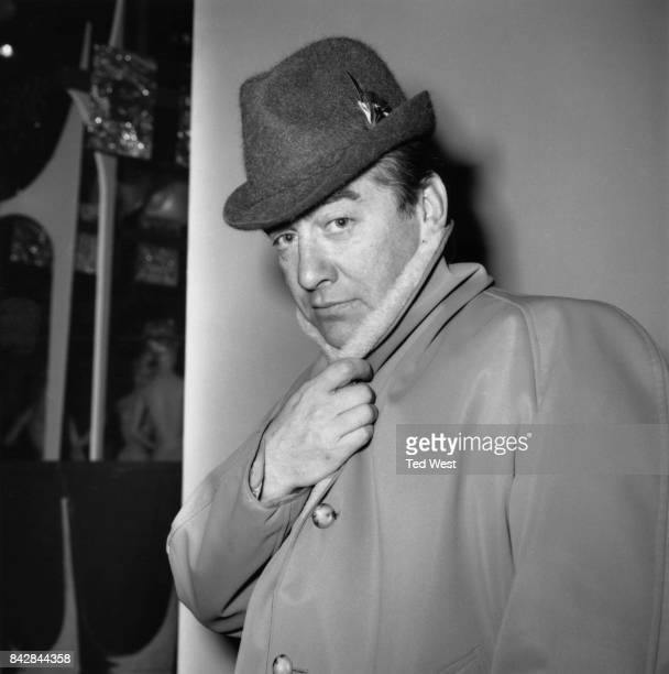 English actor and comedian Tony Hancock during a press reception at Elstree Studios for his new television series 'Hancock' 13th December 1962