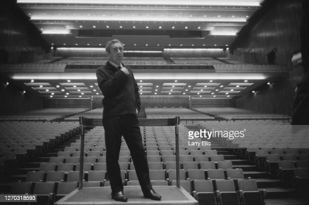 English actor and comedian Tony Hancock stages a one-man show at the Royal Festival Hall in London, September 1966.