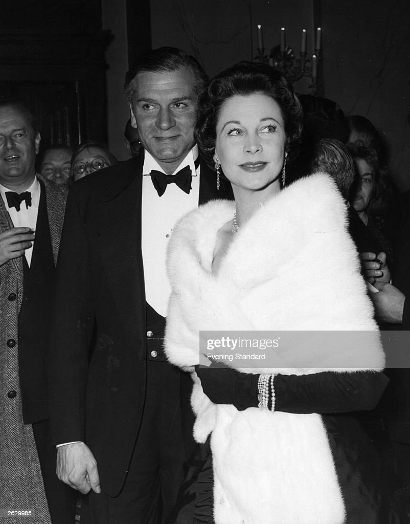 English Actor And Director Sir Laurence Olivier With His