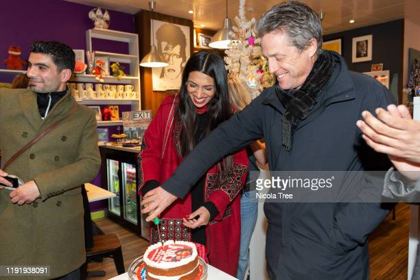 English actor and film producer Hugh Grant campaigns with Labour candidate for Chingford and Woodford Green Faiza Shaheen on December 4 2019 in...