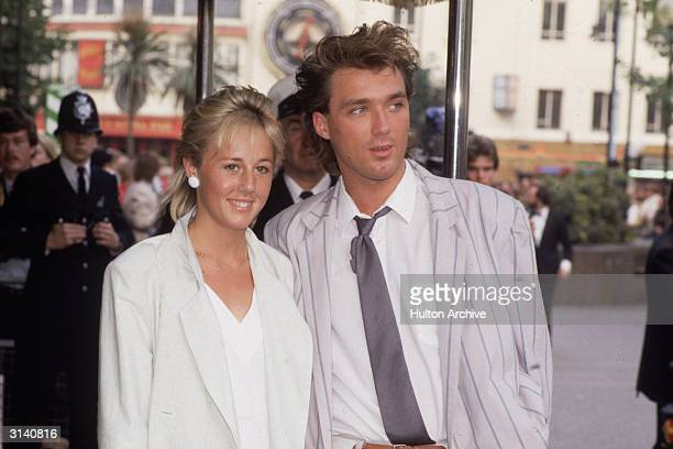 English actor and musician in the New Romantic pop group, Spandau Ballet, Martin Kemp, with his wife Shirley Holliman, one half of the duo Pepsi and...