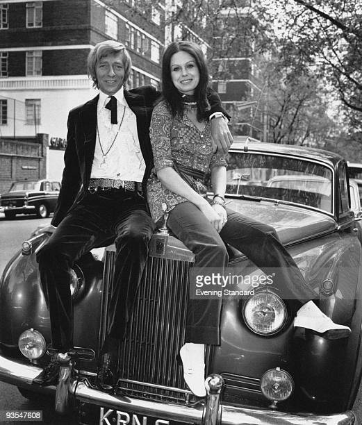 English actor and screenwriter Jeremy Lloyd with his second wife actress and model Joanna Lumley May 1970