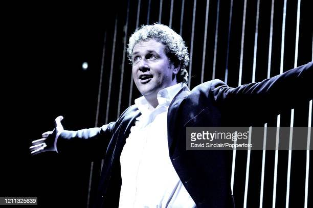 English actor and singer Michael Ball performs live on stage at Theatre Royal, Drury Lane in London on 27th September 2004.