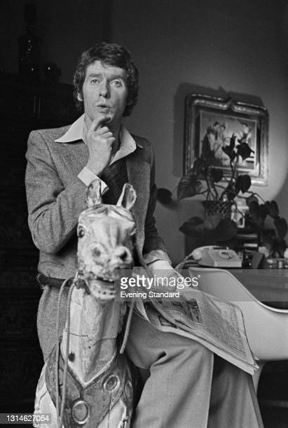 English actor and singer Michael Crawford, who is starring in the stage musical 'Billy' at the Theatre Royal on Drury Lane, London, UK, 2nd May 1974.