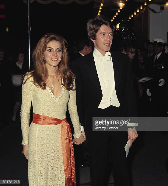 English actor and singer Michael Crawford with his wife Gabrielle, circa 1970.