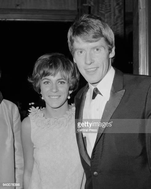 English actor and singer Michael Crawford with his wife Gabrielle, circa 1968.