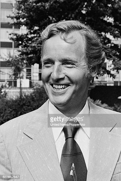 English actor and television presenter Nicholas Parsons pictured at a press call to launch the television game show Sale of the Century in England on...