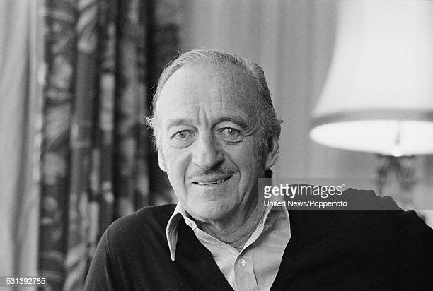 English actor and writer David Niven pictured in London on 16th February 1977