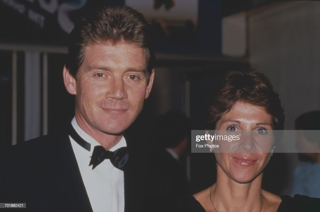 English actor Anthony Andrews and his wife Georgina (nee Simpson) at the London premiere of 'Superman