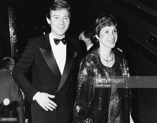English actor Anthony Andrews and his wife Georgina attending an anniversary party at the Hippodrome London November 22nd 1984