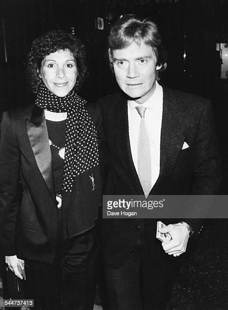 English actor Anthony Andrews and his wife Georgina attending an event in London March 15th 1983