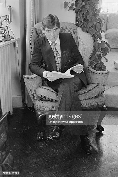 English actor Anthony Andrews pictured at home on 1st December 1978