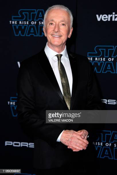 English actor Anthony Daniels arrives for the world premiere of Disney's Star Wars Rise of Skywalker at the TCL Chinese Theatre in Hollywood...