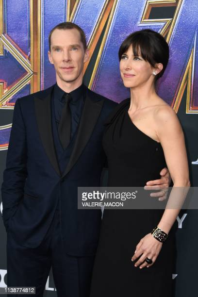 English actor Benedict Cumberbatch and English theatre director Sophie Hunter arrive for the World premiere of Marvel Studios' Avengers Endgame at...