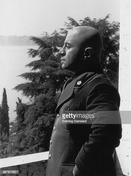 English actor Bob Hoskins as Italian fascist leader Benito Mussolini in the television docudrama 'Mussolini and I' 1984 It aired on HBO in September...
