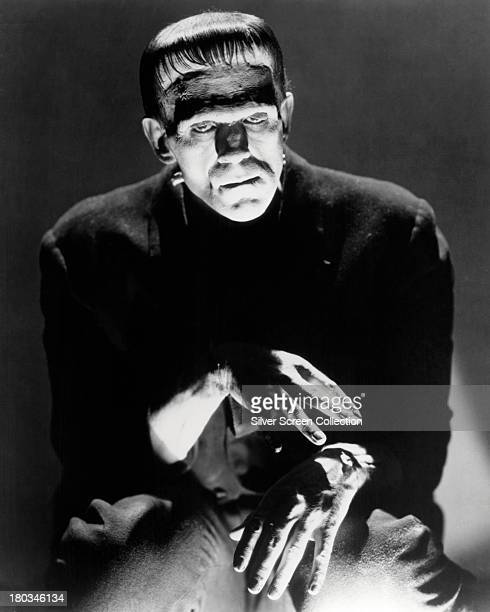 English actor Boris Karloff as The Monster in a promotional portrait for 'Frankenstein' directed by James Whale 1931