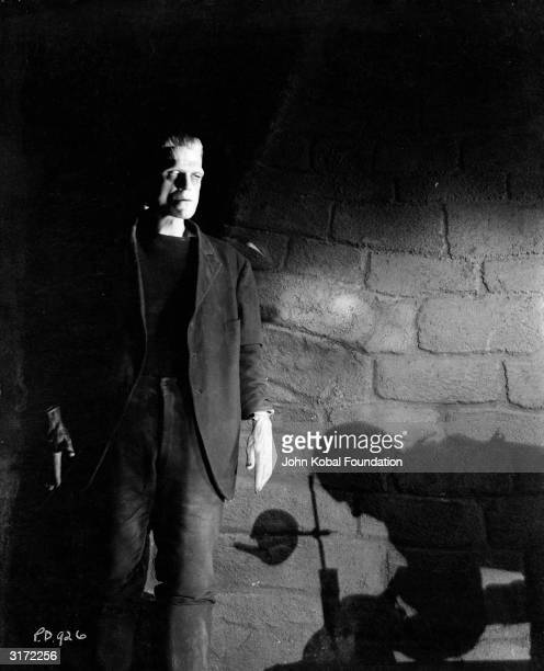 English actor Boris Karloff in his most famous role as the reanimated monster in 'Frankenstein' directed by James Whale